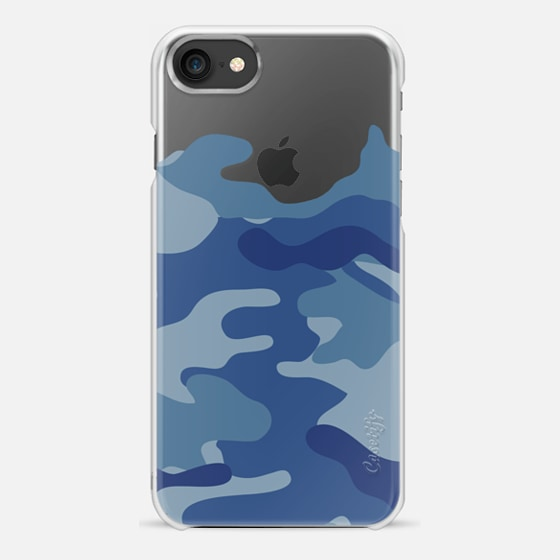 Camo transparent blue - Snap Case