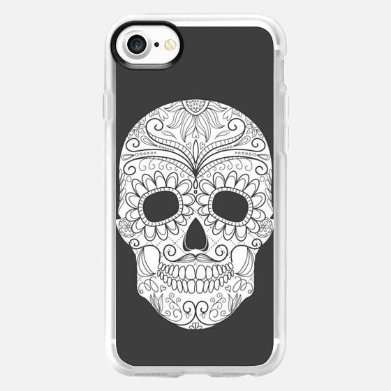 Skull  white grey -