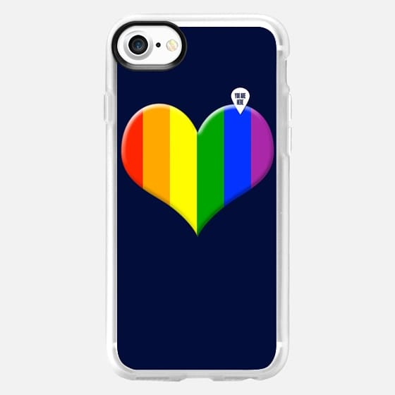 Rainbow heart - You are here - Classic Grip Case
