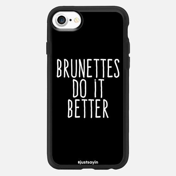 Brunettes do it better - Classic Grip Case