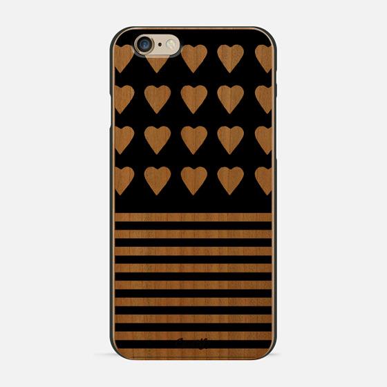Heart Stripes White on Black - New Standard Pastel Case