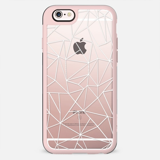 Abstraction Outline White Transparent Iphone 6s Case By