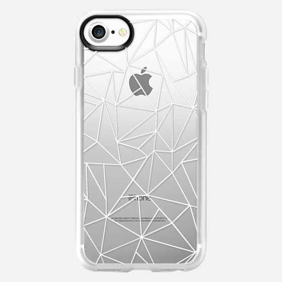 Abstraction Outline White Transparent - Glitter Case