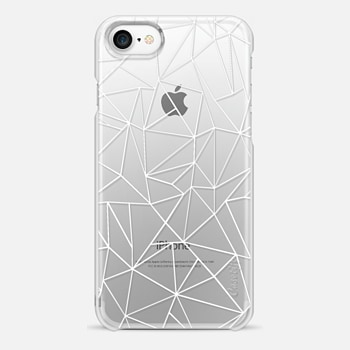 iPhone 7 Case Abstraction Outline White Transparent