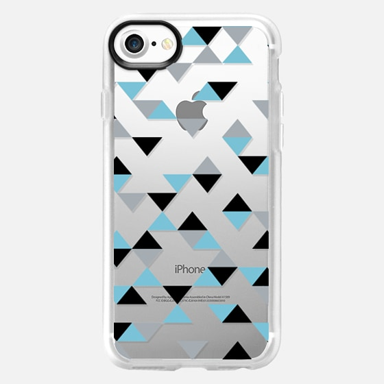 Triangles Ice Blue Transparent -