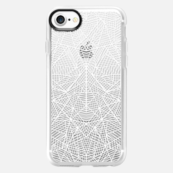 Abstract Lace Transparent - Wallet Case