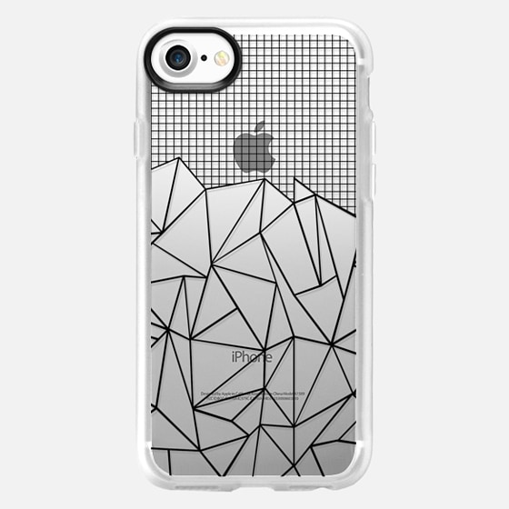 Abstract Grid Outline Black Transparent -