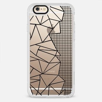 iPhone 6 Case Ab Outline Grid on Side Black Transparent
