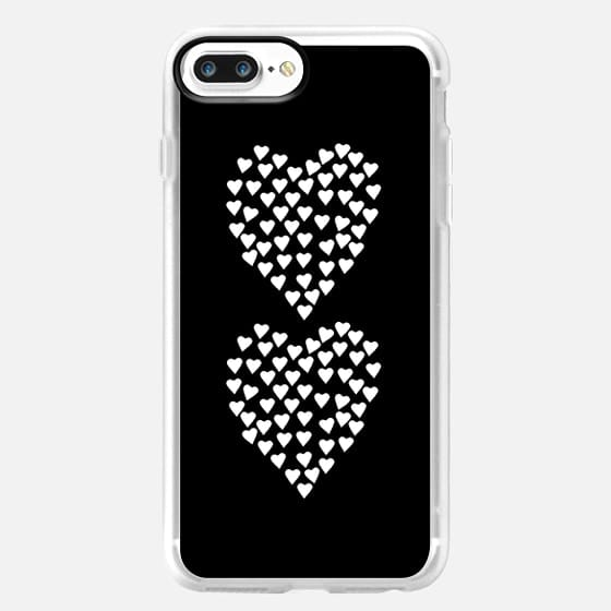 Hearts Heart x2 Black - Classic Grip Case