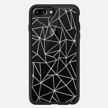 iPhone 7 Plus Case Abstraction Outline White Transparent