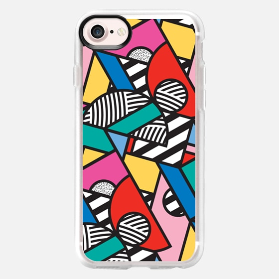 Colorful Memphis Modern Geometric Shapes - Wallet Case