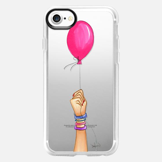 Birthday balloon fashion illustration  - Wallet Case