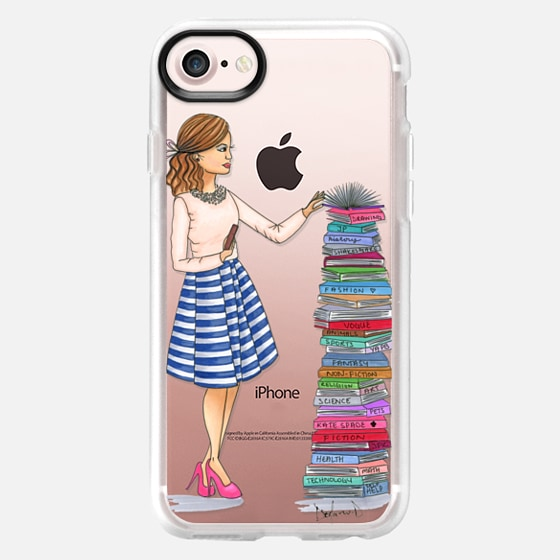 Library Librarian fashion illustration book lover book nerd - Wallet Case