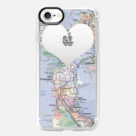 Heart Map - San Francisco - Wallet Case
