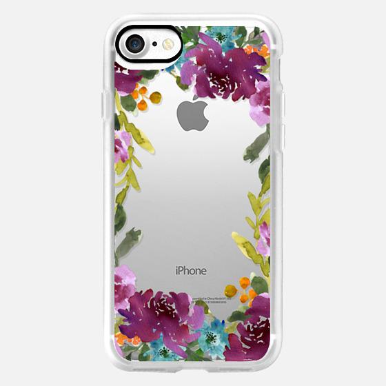 Purple Floral Border -