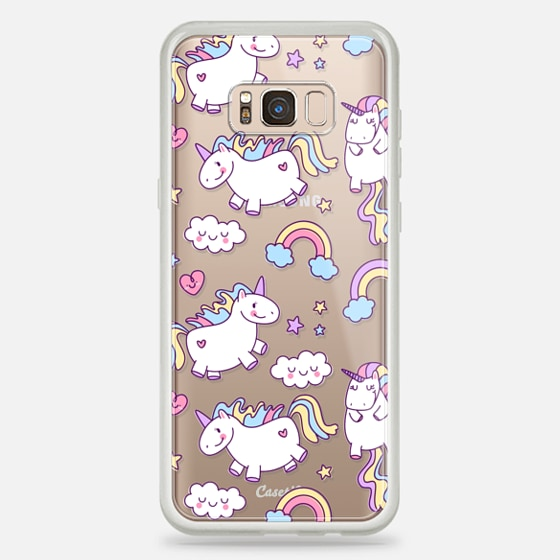 Galaxy S8+ Case - Unicorns & Rainbows - Clear
