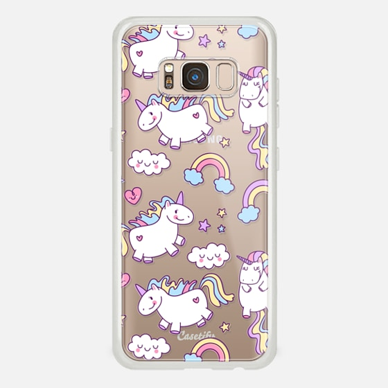 Galaxy S8 Case - Unicorns & Rainbows - Clear