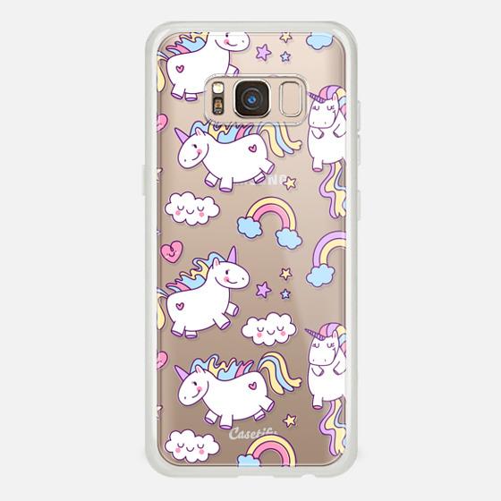 Galaxy S8 Case - Unicorns & Rainbows - Clear
