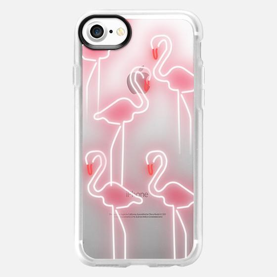 Neon inspired flamingo pattern - Wallet Case