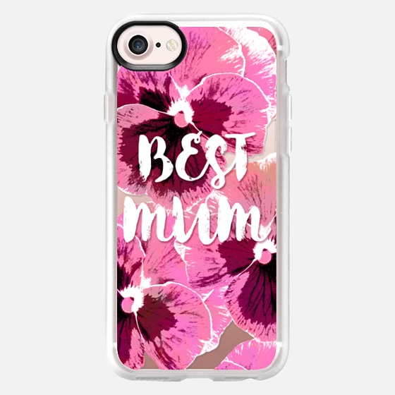 PINK PANSIES BEST MUM FLOWERS TYPOGRAPHIC MOTHER MOTHER'S DAY  - Wallet Case