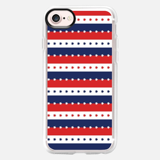 STARS AND STRIPES RED WHITE BLUE INDEPENDENCE DAY AMERICAN FOURTH 4TH JULY FLAG PATRIOTIC NATIONAL - Wallet Case