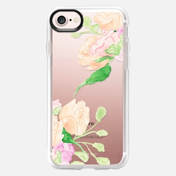 Peach and Pink Flowers by Simply Jessica Marie - Snap Case