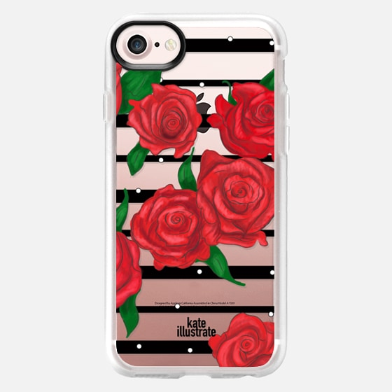 Roses in Bloom (Red) - Wallet Case