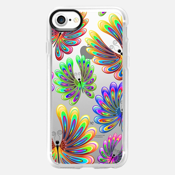 Psychedelic Abstract Butterflies - Classic Grip Case