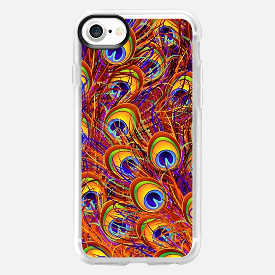 Peacock Feathers Pattern - Classic Grip Case