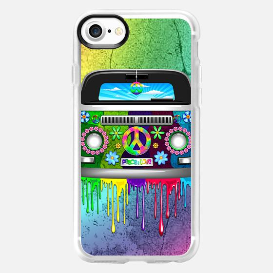 Hippie Van Dripping Rainbow Paint - Wallet Case