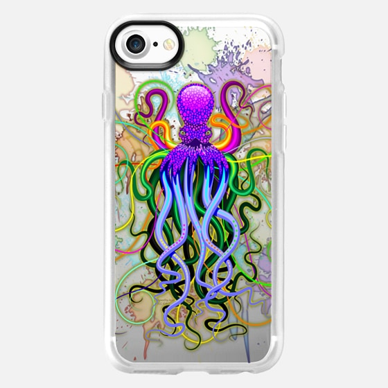 Octopus Psychedelic Luminescence - Classic Grip Case