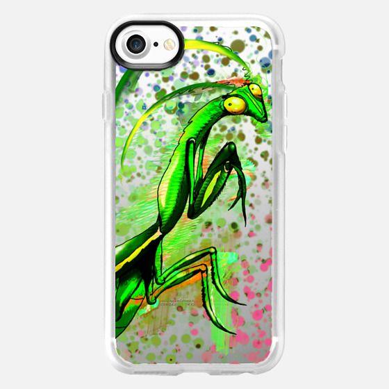 Praying Mantis Doodle Art - Classic Grip Case