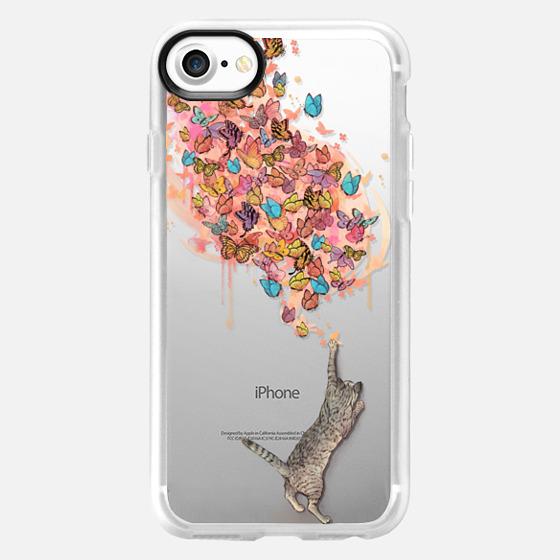 cat catching butterflies  - Wallet Case