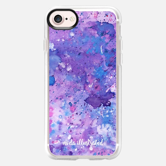 Purple and Blue Liquid Art Watercolor by Moda Illustrated - Classic Grip Case