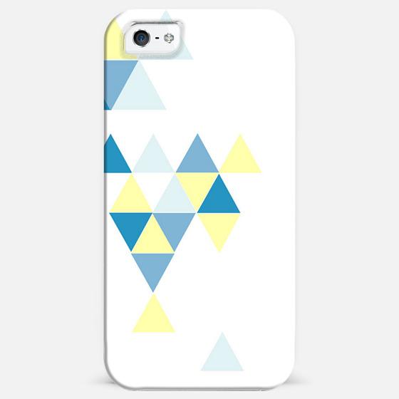 Triangle Pattern Blue -