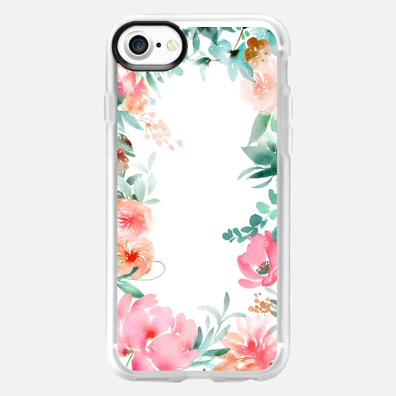 Lush Floral Watercolor by Julie Song Ink - Wallet Case