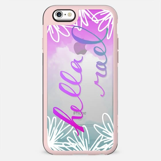 """""""Hella Rad"""" Ombre Flower Printed Phone Case - New Standard Case"""