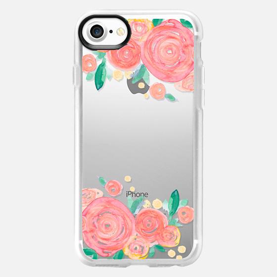 Coral Rose Blooms - Wallet Case