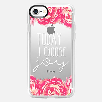 iPhone 7 เคส Today I Choose Joy Pink Peony