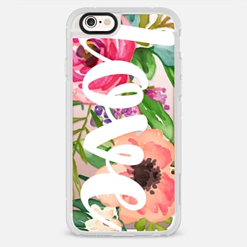 iPhone 6s Plus เคส LOVE Watercolor Floral