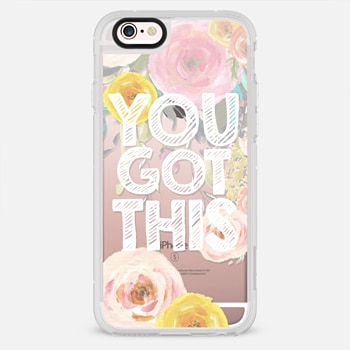 iPhone 6s ケース You Got This Watercolor Floral 2