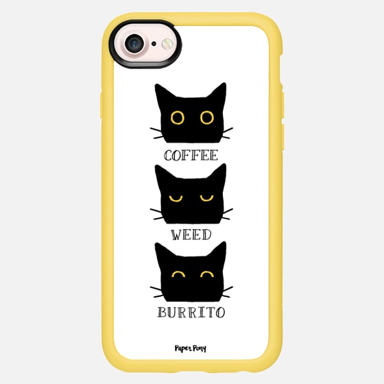 Coffee Weed Burrito Cat by Paper Pony Co. - Classic Grip Case