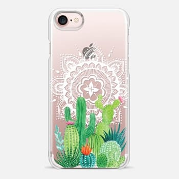 iPhone Case -  Cacti and Mandala