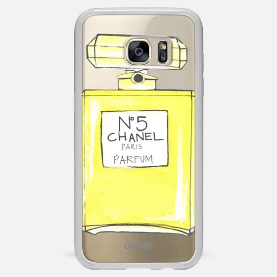 chanel no 5 perfume bottle galaxy s7 edge case by megan