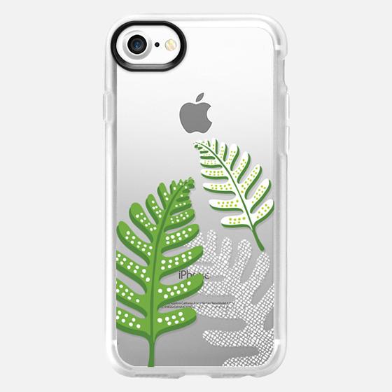 Green & White Ferns - Wallet Case