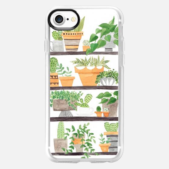 painted succulent & cactus plant shelfie - Wallet Case