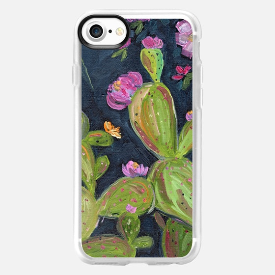 Boho cactus cacti prickly pear floral flowers by Bari J. -
