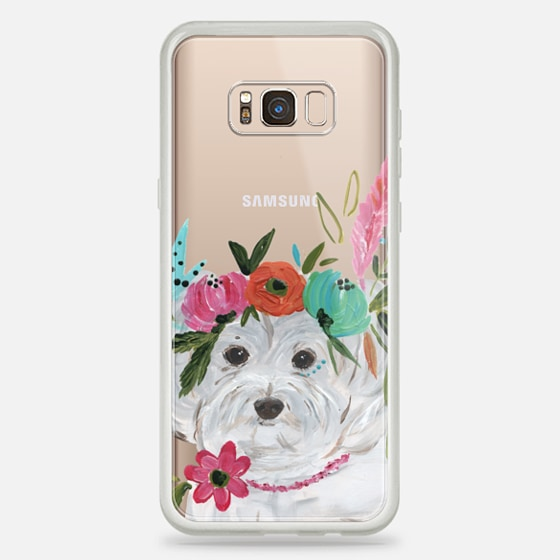 Galaxy S8+ Hülle - Boho Maltipoo by Bari J. Designs