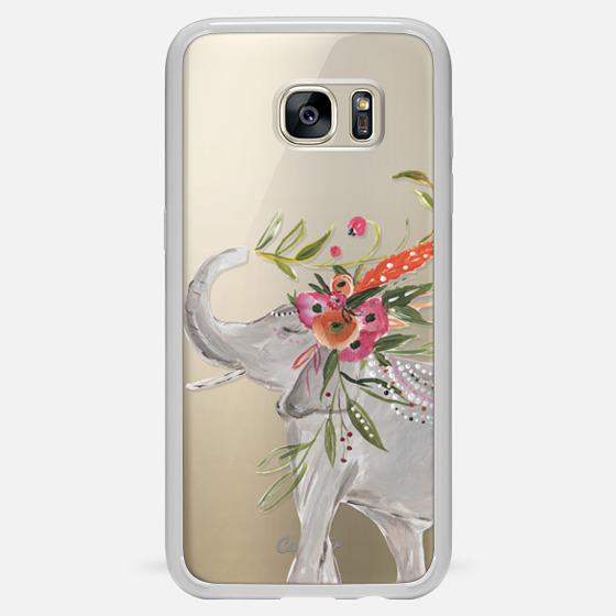 Galaxy S7 Edge Case - Boho Elephant by Bari J. Designs