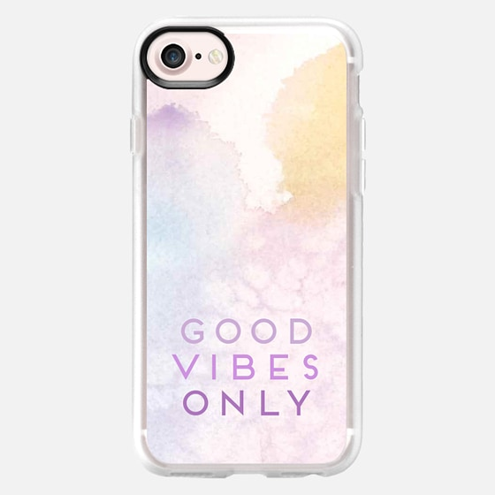 Good Vibes Only - Ombre Summer Sunset Watercolor Painting - Wallet Case